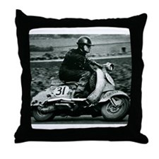 Scooter Race Throw Pillow