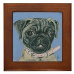 Pug Puppy Framed Tile
