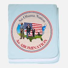 USA OBAMA NATION baby blanket