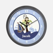 Ahoy Mate with Monkey Wall Clock - Jacob
