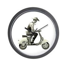 Scooter Cowboy! Wall Clock