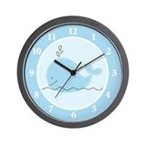 Baby whale Wall Clocks