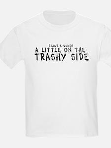 I love a women a little on th Kids T-Shirt