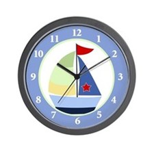 Nautical Sailboat Wall Clock