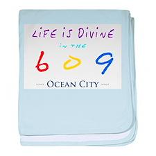 Ocean City baby blanket