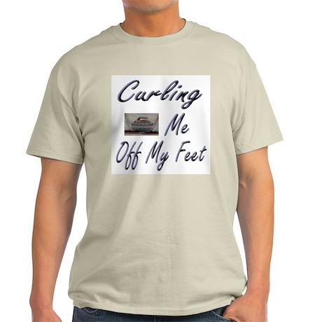 Curling Swept Me Off My Feet Ash Grey T-Shirt