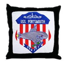 USS Portsmouth SSN 707 Throw Pillow