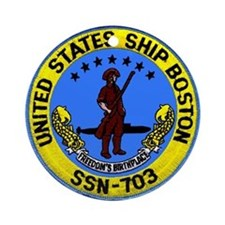USS Boston SSN 703 Ornament (Round)
