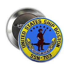 USS Boston SSN 703 Button