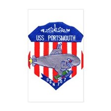 USS Portsmouth SSN 707 Rectangle Decal