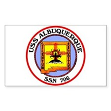USS Albuquerque SSN 706 Rectangle Decal