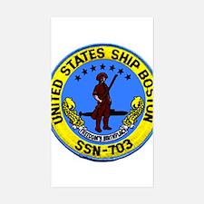USS Boston SSN 703 Rectangle Decal