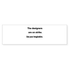 Designers On Strike Sticker (Bumper 10 pk)