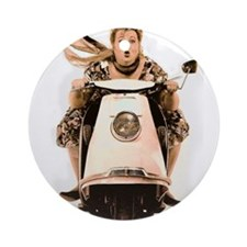 Scooter Diva Ornament (Round)