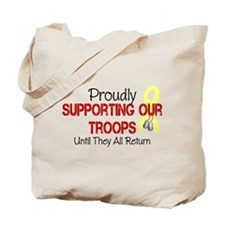 Proudly Supporting Our Troops Tote Bag
