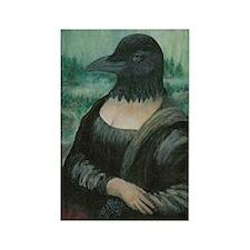 Crow-na Lisa Rectangle Magnet