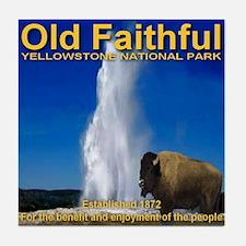 Old Faithful Yellowstone Nati Tile Coaster