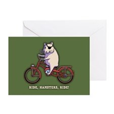 Ride, Hamsters, Ride! Greeting Cards (Pk of 10)