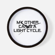 LIght Cycle Wall Clock