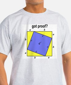 Pythagorean Theorem w/back Ash Grey T-Shirt