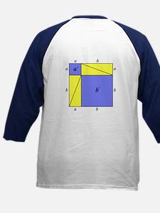Pythagorean Theorem w/back Kids Baseball Jersey