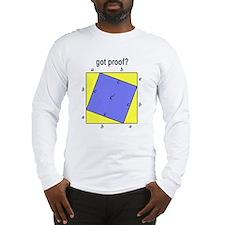 Pythagorean Theorem w/back Long Sleeve T-Shirt
