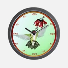 Red Throated Hummingbird Wall Clock