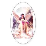 Angel Bride Oval Sticker