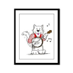 Catoons™ Banjo Cat Framed Panel Print