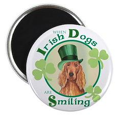 St. Patrick Irish Setter Magnet