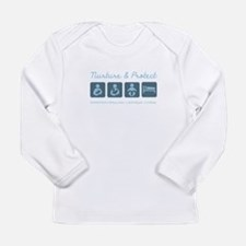 Diaper Long Sleeve Infant T-Shirt