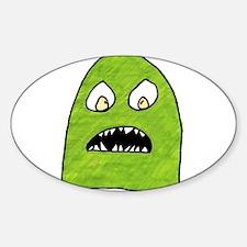 Cute Green monster Decal