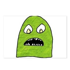 Cute Green monster Postcards (Package of 8)