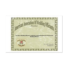 American Assn Wedding Officiants10x12