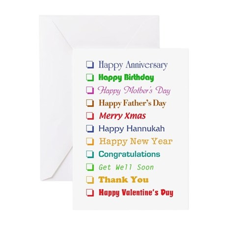 The All-In-One Greeting Card (Pk of 10)