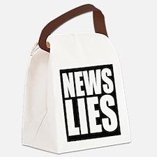News Lies Canvas Lunch Bag