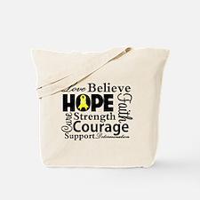 Sarcoma Hope Collage Tote Bag