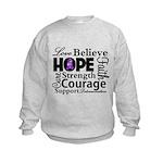 Pancreatic Cancer Hope Kids Sweatshirt