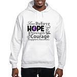Pancreatic Cancer Hope Hooded Sweatshirt