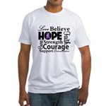Pancreatic Cancer Hope Fitted T-Shirt