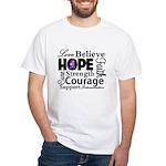 Pancreatic Cancer Hope White T-Shirt