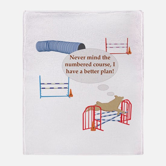 Numbered Course Throw Blanket