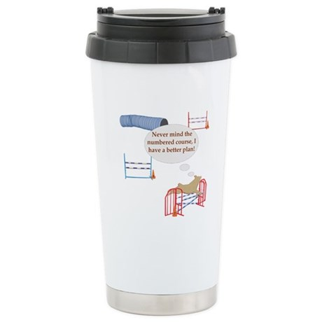 Numbered Course Stainless Steel Travel Mug