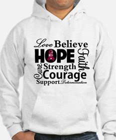 Myeloma Hope Collage Jumper Hoody