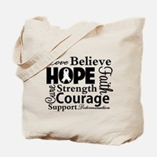 Lung Cancer Hope Collage Tote Bag
