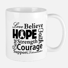 Lung Cancer Hope Collage Mug