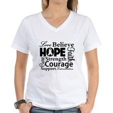Lung Cancer Hope Collage Shirt