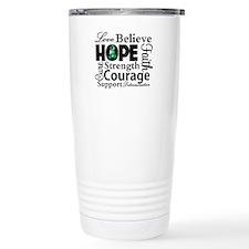 Liver Cancer Hope Collage Travel Mug