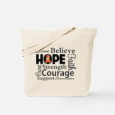 Leukemia Hope Collage Tote Bag