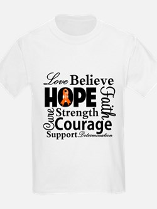 Leukemia Hope Collage T-Shirt